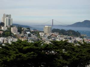 View from the base of Coit Tower