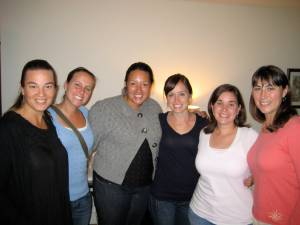 Sharon, Rachel, Hilary, Kristin, me and Suz